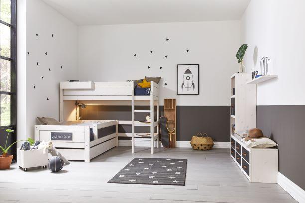 Low Loft Bed Corner Combi Gyerekszoba Bútor