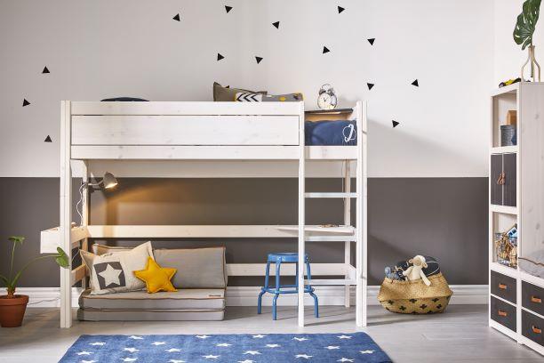 Low Loft Bed Boy Gyerekszoba Bútor