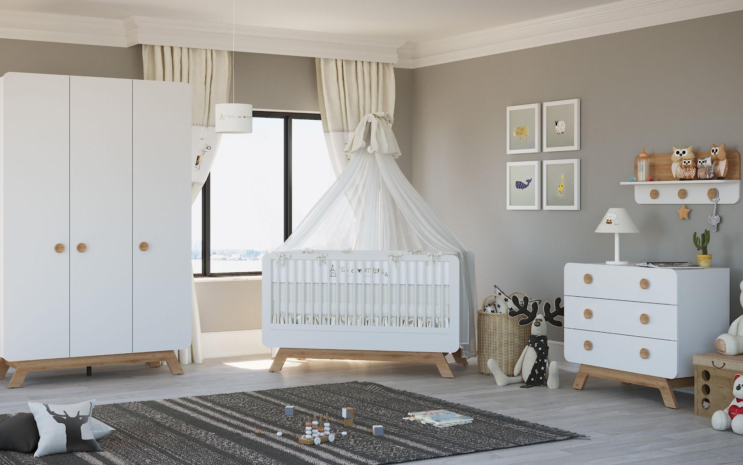 Baby Cute Tölgy Babaszoba Bútor