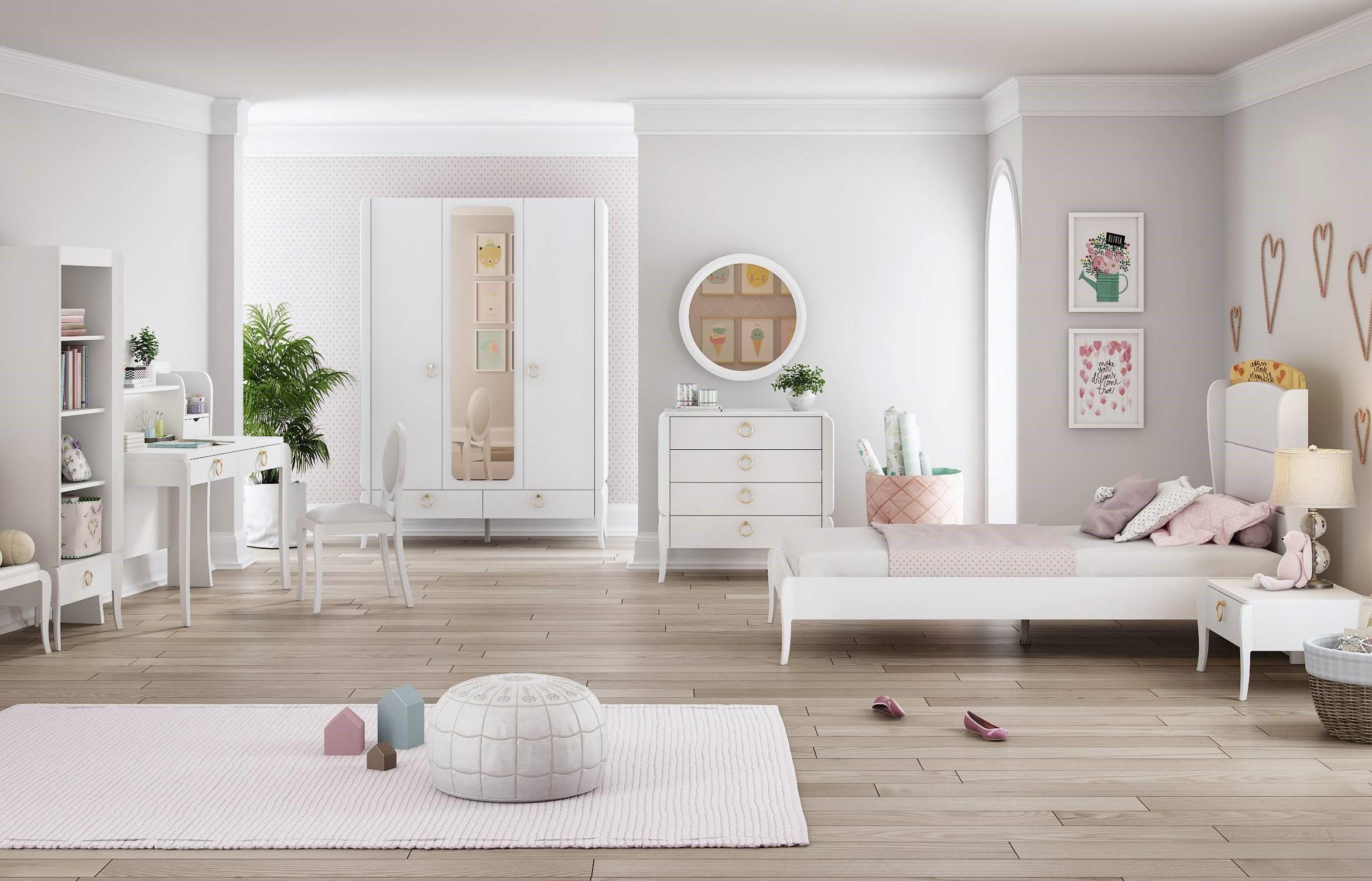 Elegant White Ifjúsági Bútor Szett
