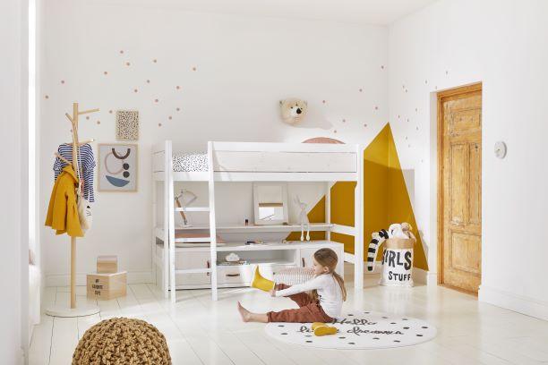 Low Loft Bed Girl Gyerekszoba Bútor