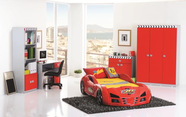 Racer-Autós Gyerekszoba Bútor