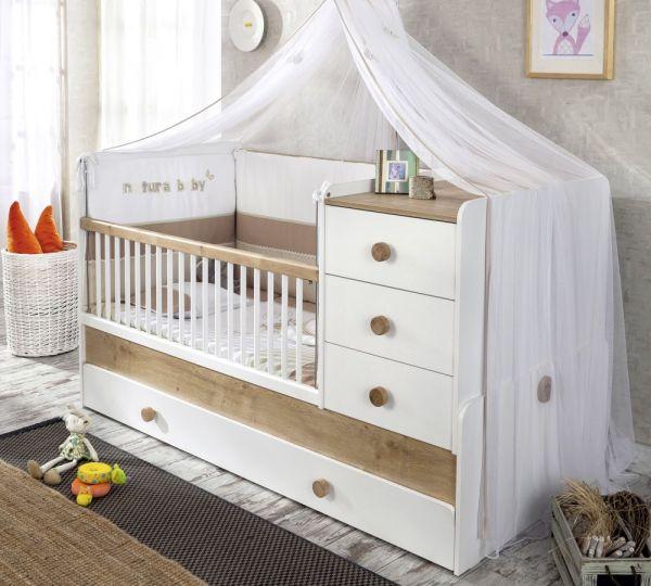Cilek Natura Baby Kombi Kiságy Pótággyal (80x180 Cm)