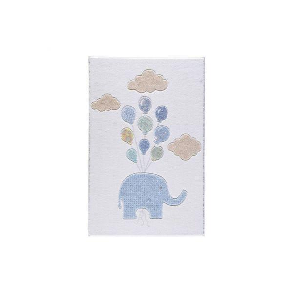Confetti Fehér Lufis Elefánt Szőnyeg (133x190 Cm)