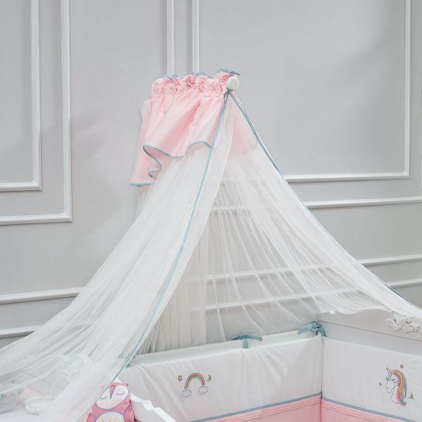Almila Lora Baby Pink Baldachin