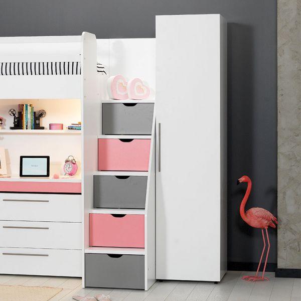 Almila Neo Pink Galériaágy (90x200 Cm)